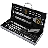 Home-Complete BBQ Grill Tool Set- 16 Piece Stainless...