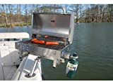 Boat Grill with Mount - Portable Propane Gas BBQ -...