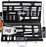ROMANTICIST 27pc BBQ Accessories Set with Thermometer -...