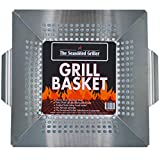 Professional Grade Stainless Steel Grill Basket, BBQ...