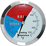 3 1/8 inch Charcoal Grill Temperature Gauge, Accurate...