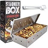 TuhooMall Stainless Steel Smoker Box for Gas Grill or...