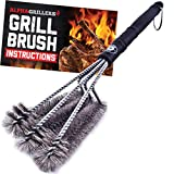Alpha Grillers 18' Grill Brush. Best BBQ Cleaner. Safe...