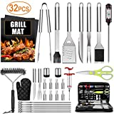 32PCS BBQ Grill Accessories Tools Set, Stainless Steel...