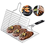 ACMETOP Portable Grill Basket 304 Stainless Steel Fish...