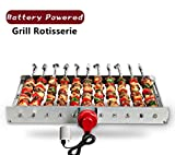 HAOONE Portable Battery Operated Automatic BBQ Grill...
