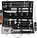 ROMANTICIST 21pc BBQ Grill Accessories Set with...