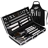 Deluxe Grill Set, Grill Accessories, 21 Piece Grilling...