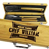 Personalized Engraved Grill BBQ Gifts Set for Men Dad...