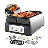 ChefWave Smokeless Indoor Electric Grill & Rotisserie...