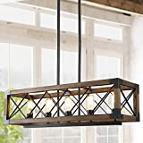 Island Light Fixtures,Rectangular Wood Farmhouse...