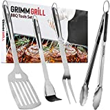 GRIMMGRILL Heavy Duty 18 Inch BBQ Grilling Tools Set -...