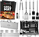 ROMANTICIST 23pc Must-Have BBQ Grill Accessories Set...