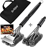 grilljoy 4PC Heavy Duty Grill Brush and Scraper with...