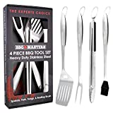 BBQ Masters Heavy Duty 4 Piece BBQ Grilling Tools Set -...