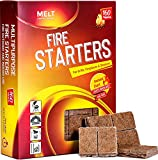Melt Candle Company Fire Starter - Pack of 160 Charcoal...