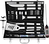 grilljoy 24PCS BBQ Grill Tools Set with Meat...