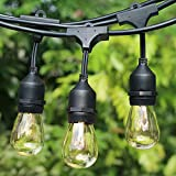 Afirst Outdoor String Lights 48Ft with 18 Edison...
